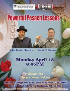 powerful pesach lessons