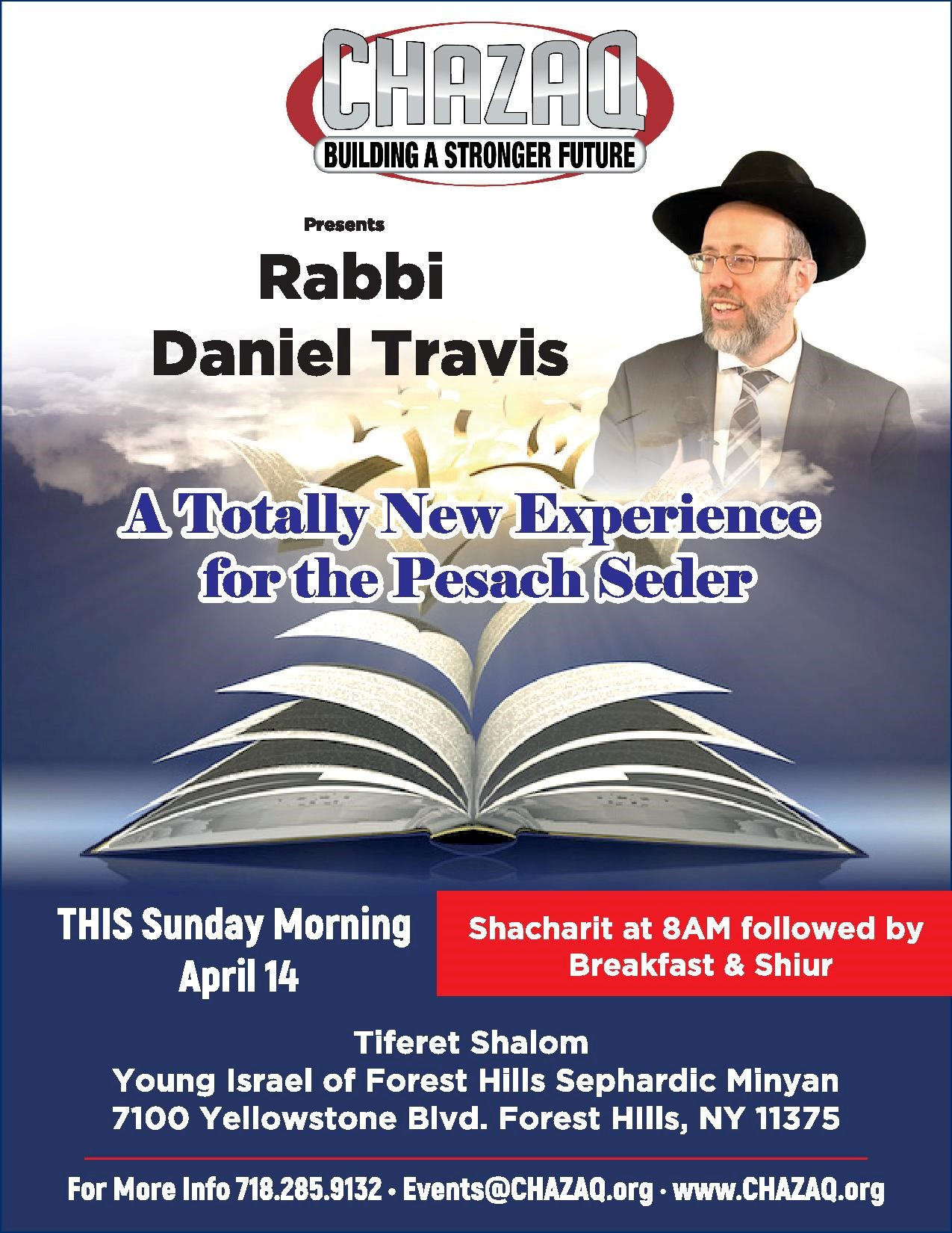 new experience for the pesach seder