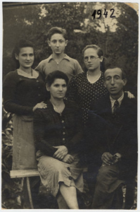 Portrait of the Schanzer family in Kazakhstan where they settled after first being imprisoned in Siberia. (United States Holocaust Memorial Museum)
